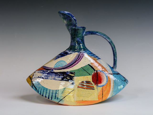 Paul Jackson 'Rocking Jug (medium)' ceramic 30x33cm