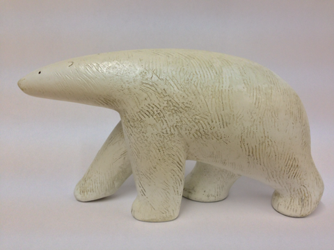 Paul Smith 'Polar bear walking' 11.5x19.5cm Marble resin limited edition of 250