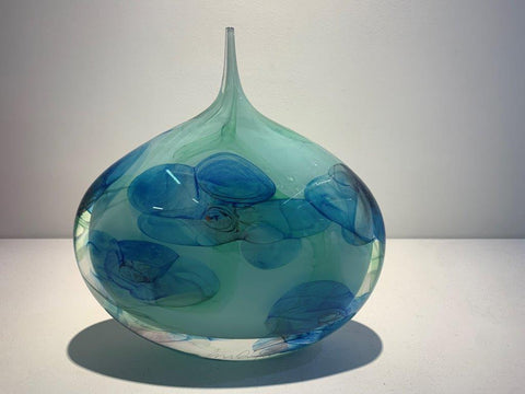 Peter Layton 'Blue Large Dropper' glass H23.5cm