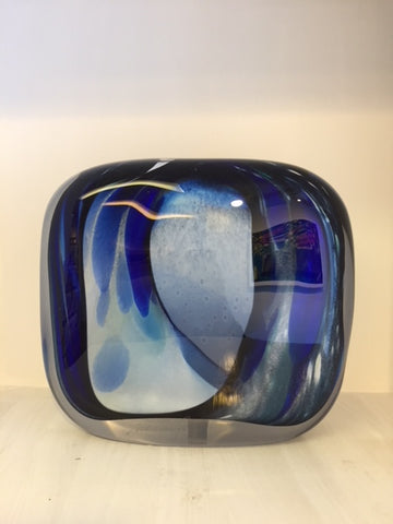 Peter Layton 'Georgia Square Stoneform' H18cm Glass