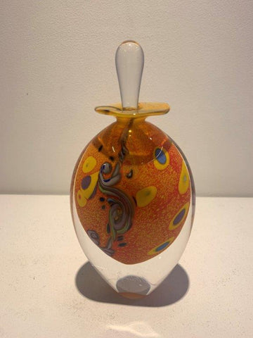 Peter Layton 'Klimt Perfume Bottle' glass
