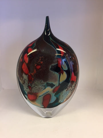 Peter Layton 'Lagoon Medium Large Dropper' H22cm Glass