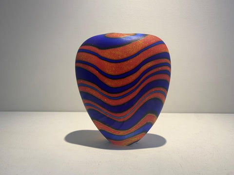Peter Layton 'Marrakech M Open Stoneform' glass H18cm W15cm