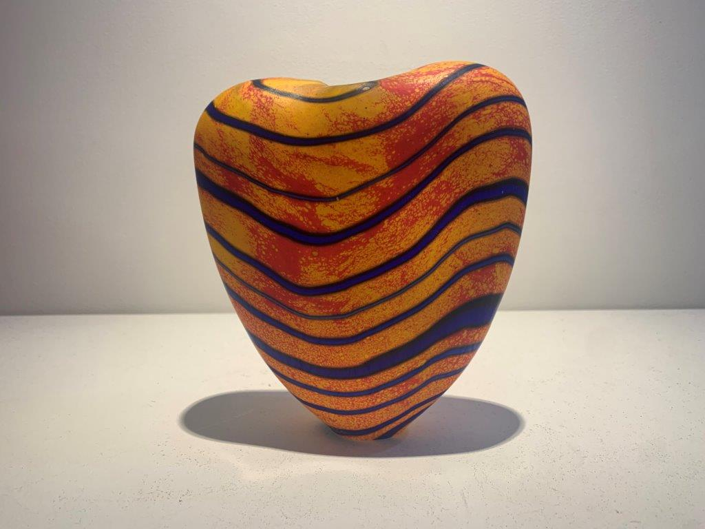 Peter Layton 'Marrakech M medium Open Vase' glass H17cm W14cm