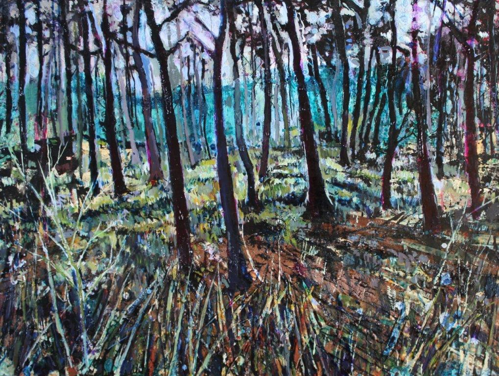Richard Wotherspoon 'Woodland' ink and acrylic 56x76cm original artwork