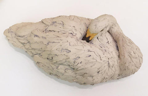 Simon Griffiths ' Swan' ceramic H22 x W56 cms