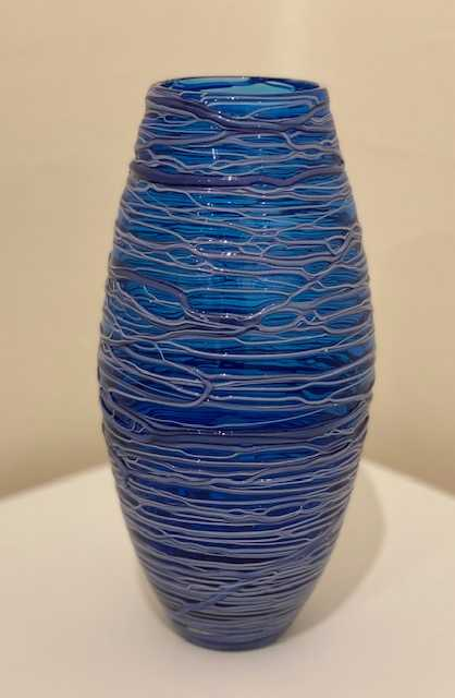 Bob Crooks 'Small Bound Vase' Glass 24x12cm