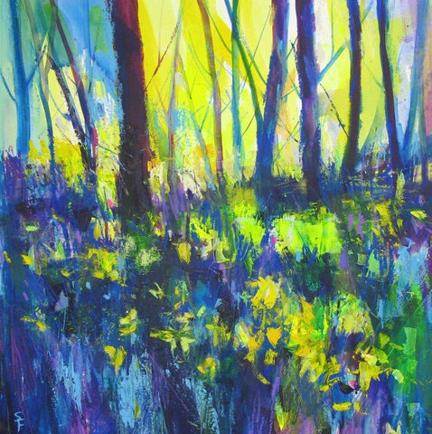 Soraya French 'Edge of the Forest' mixed media 43x43cm