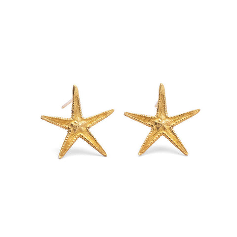 Wild and Fine (Jessica Hickman-Woolcott) Gold vermeil Classic Starfish earrings
