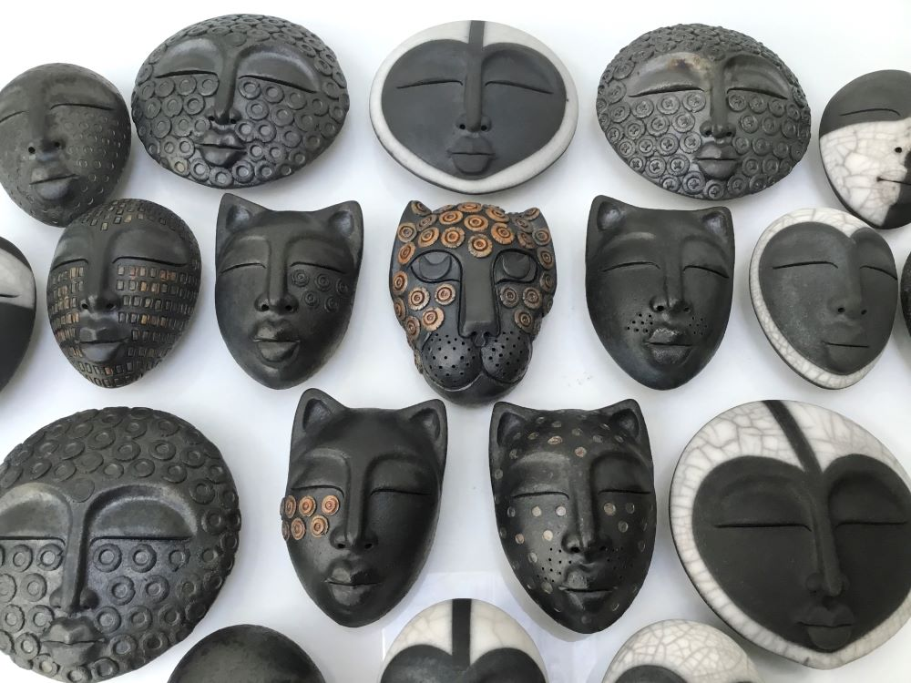 Sue Hanna 'Pebble People' ceramic £155-£175 each