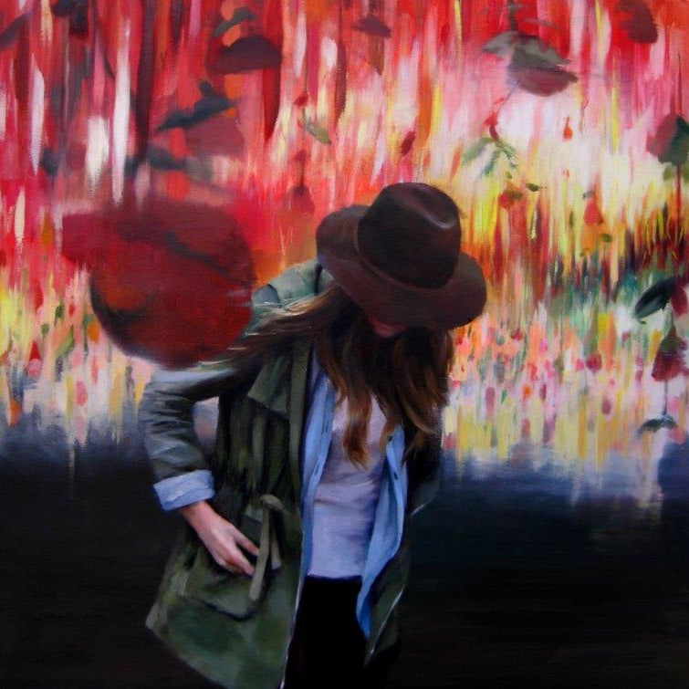 Susana Ragel 'Grazia' oil on canvas 100x100cm
