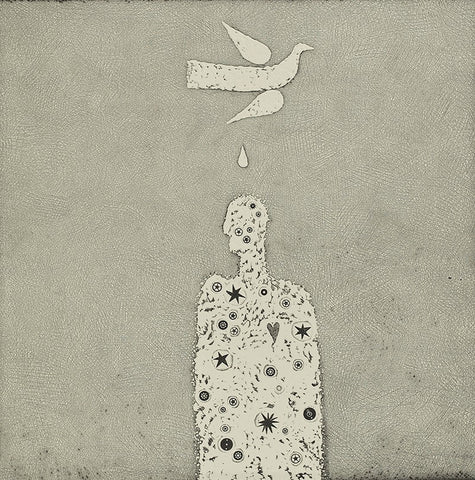 Trevor Price 'A Gift of Good Luck' limited edition etching 34x34cm