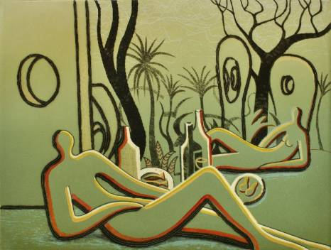 Trevor Price 'Picnic at Hepworth's Garden' Limited edition print 33x43cm