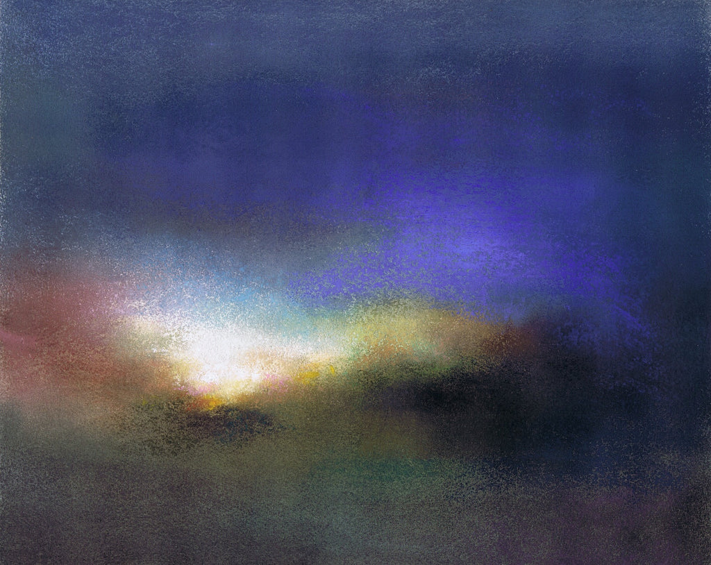 Mary Burtenshaw 'Turbulent Dawn' pastel on paper 35.5 x 32 cms