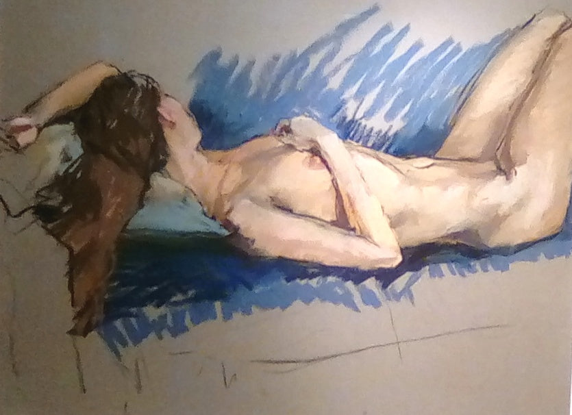 Valeriy Gridnev 'Nude' pastel on paper 63x48cms original artwork