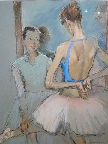 Valeriy Gridnev 'Preparation' pastel on paper 48x63cms