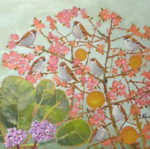 Vanessa Cooper 'Left Over Quinces' unframed Ltd ed print 35x35cms