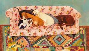 Vanessa Cooper 'Let Sleeping Dogs Lie' limited edition giclée print 25.5x46cm £295 framed