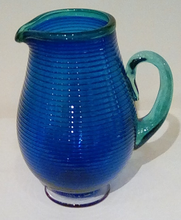 Bob Crooks 'Large Venetian Jug' glass H 24cms