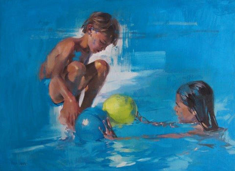 Yara Damian 'In the Swimming Pool' oil on linen 71x100cm