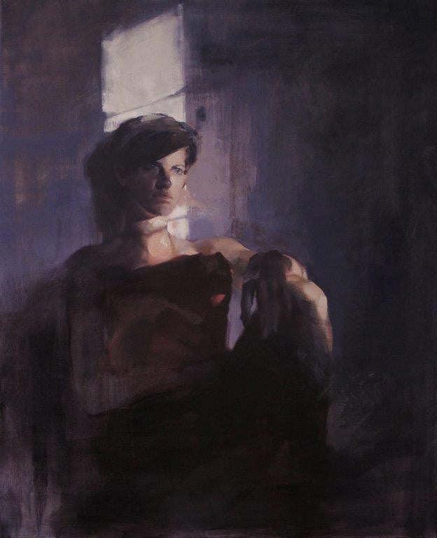 Yara Damián 'The Light Draws Me In' oil on canvas 100x81cms