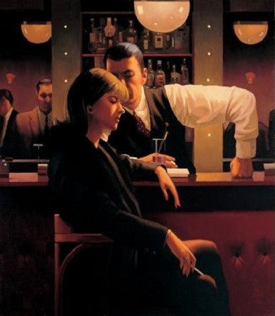 Jack Vettriano 'Cocktails and Broken Hearts' limited edition silkscreen print 70x56cm