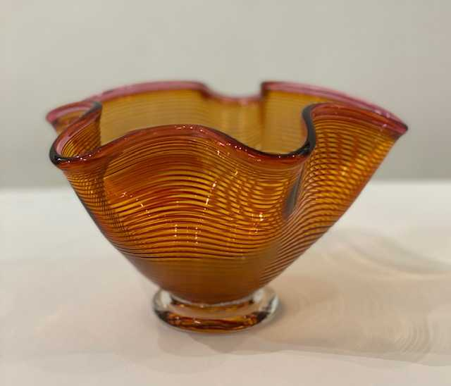 Bob Crooks 'Small Venetian Bowl' glass H12xD20cms