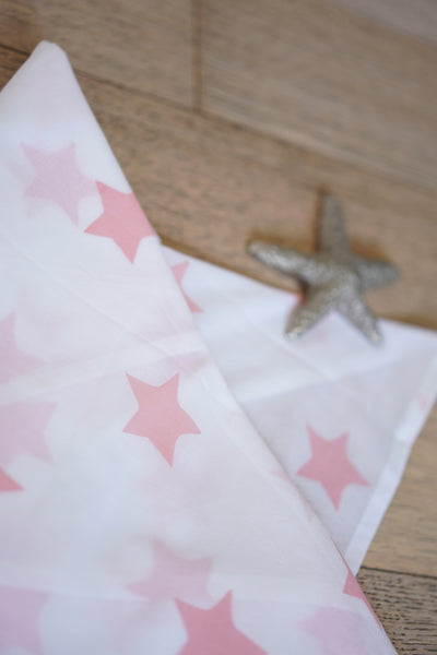 'Wish upon a star' Organic Cotton Swaddle in Peach Pink