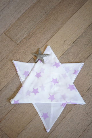 'Wish upon a star' Organic Cotton Swaddle in Lilac