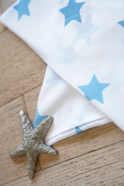 'Wish upon a star' Organic Cotton Swaddle in Midnight Blue