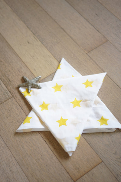 'Wish upon a star' Organic Cotton Swaddle in Sunshine Yellow