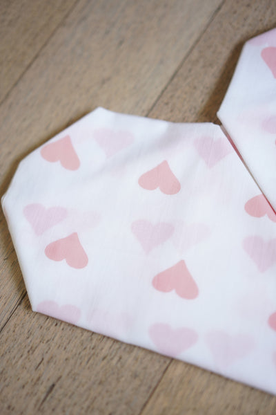 'Grace' Organic Cotton Swaddle in Peach Pink