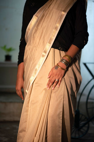 Mogra handwoven saree