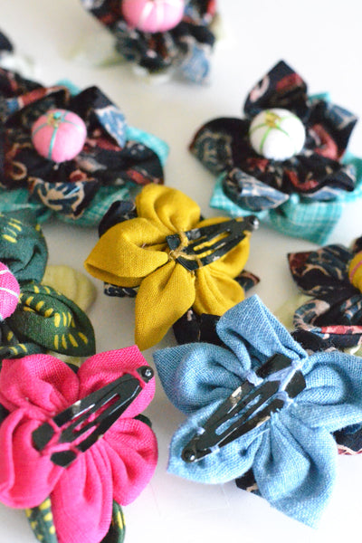 Ajarakh Assorted Flower Hair Clip