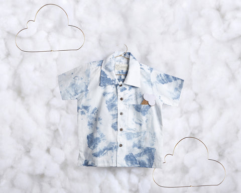 'Atop a Fluffy Cloud' short sleeve shirt