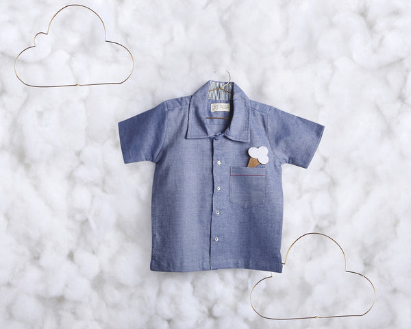 'Blue all Around' short sleeve shirt