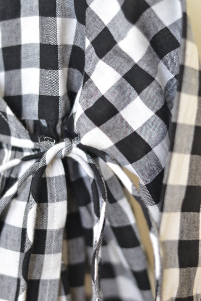 'Kimono' - A classic LTWT design in Handwoven Cotton Black and White Checks