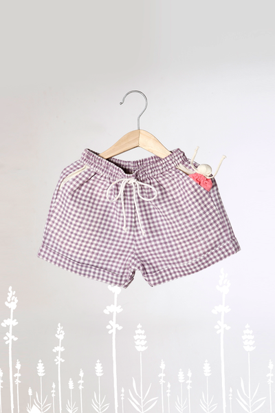 'Let's take more Naps' - Lavender Checkered Unisex Shorts