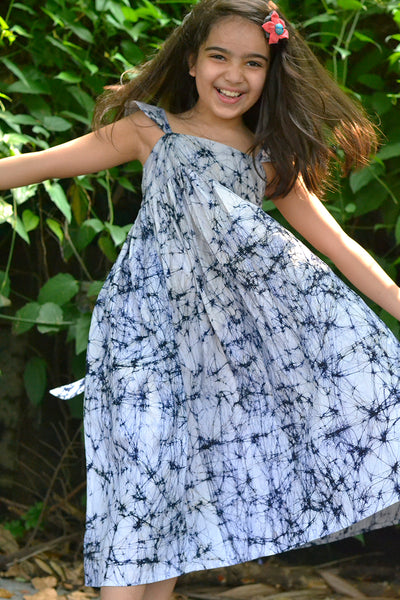'With Magic in your Heart' Unlined Maxi Dress in Batik