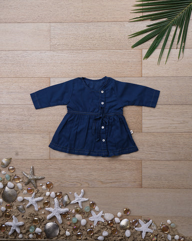 'Happy as a Clam' with Sleeves - Girls (0-6 months)
