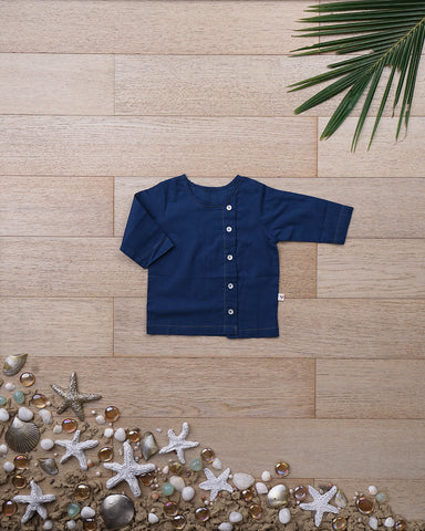 'Happy as a Clam' with Sleeves - Unisex (0-6 months)