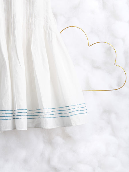 'Pitter Patter' in Self Striped White