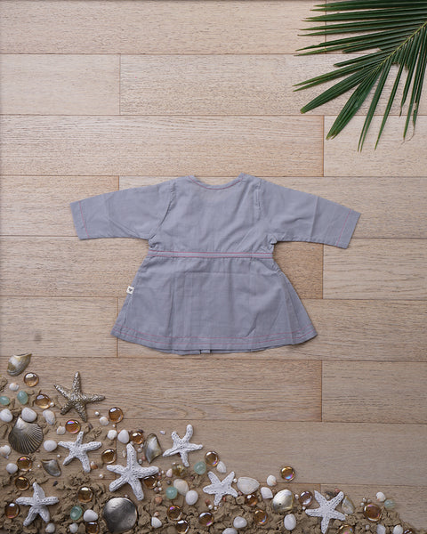 'Over the Moon' with Sleeves - Girls (0-6 months)