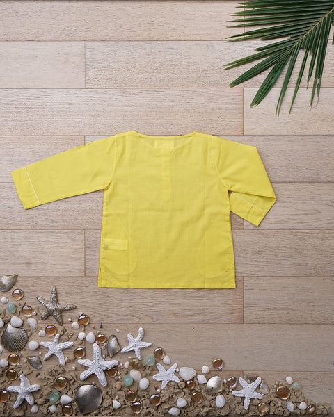 'Sleepover Party Kurta' in Sunshine Yellow