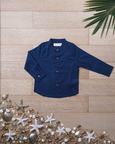 'Visiting Grandma Grandpa Shirt' in Deep Blue