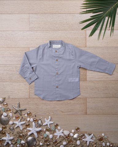 'Visiting Grandma Grandpa Shirt' in Misty Grey