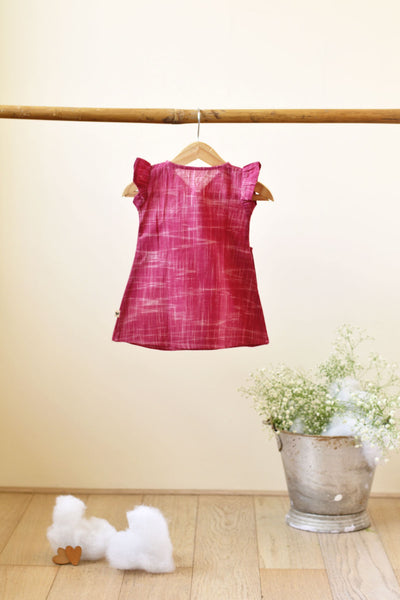 'Big Warm Bear Hug' Frill Dress in Red - Girls (0-6 months)