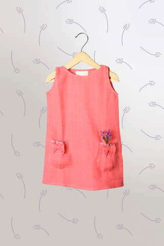 'Dream a Little Dream' - Sleeveless Pink Dress with Puffy Pockets