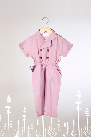 'Work for the Joy of it' -  Lavender Jumpsuit