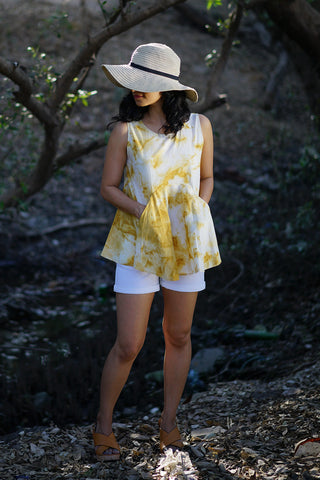 'I Spy a Pocket' in Ochre Yellow Tie & Dye - Mamma's version